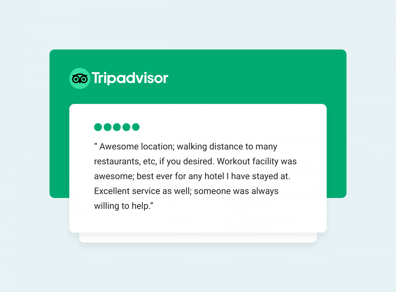 guest five-star review